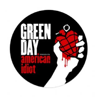 Green Day - American Idiot - (25mm Button Badge)